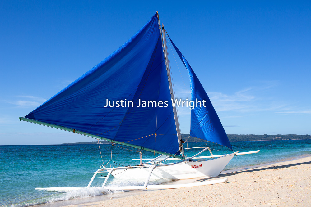 Sailing Boat (Paraw), Boracay, Aklan, Philippines   Philippine Photo # 4161  If you wish to purchase a photography print of this image, or would like to license this image please contact us using the form below.  Please kindly include the Image Title and Image Ref # in your message, we will get back to you.