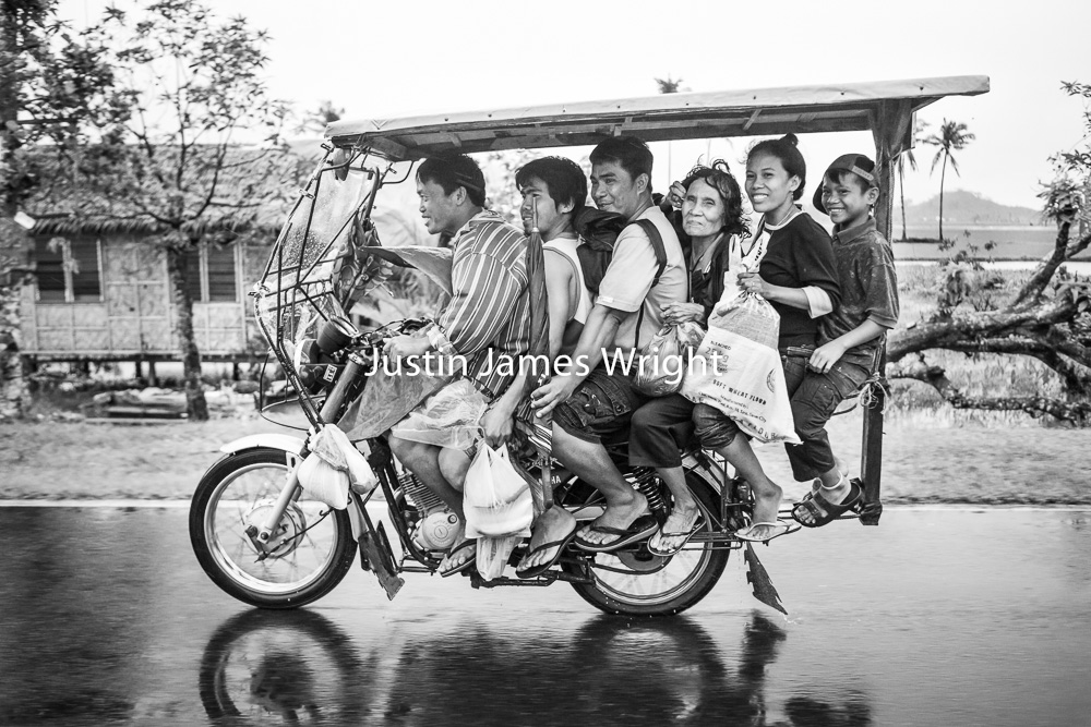Habal Habal (Motorcycle Taxi), Leyte, Philippines   Philippine Image # 4074  If you wish to purchase a photography print of this image, or would like to license this image please contact us using the form below.  Please kindly include the Image Title and Image Ref # in your message, we will get back to you.