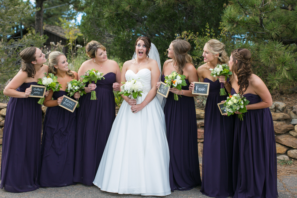 Purple Bridemaids Dresses Colorado