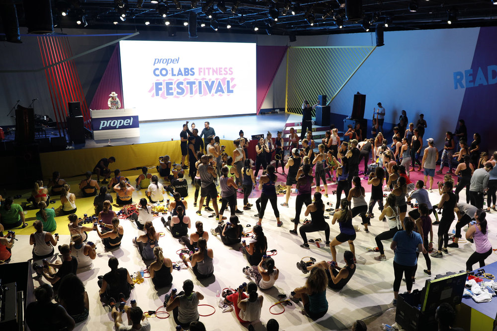 Pepsico, Propel Water, Invisible North, Co:Labs, Production Agency, Design Agency, Experiential Marketing, Brand Experience, Fitness Festival, Workout, Live Music, Los Angeles, B2C, Festival, Wellness, Fitness, Events