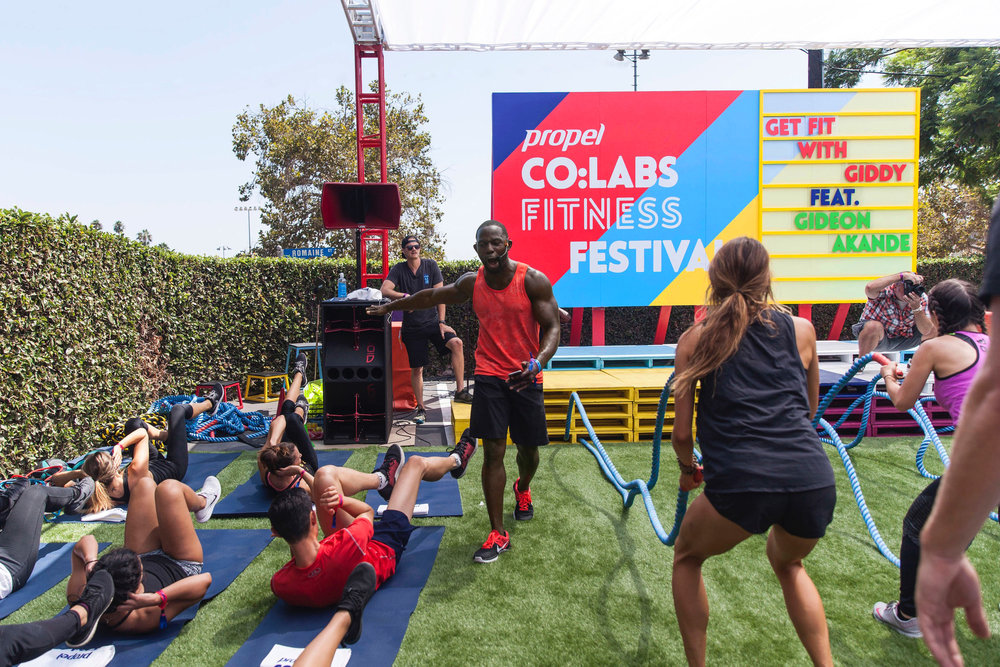 Pepsico, Propel Water, Invisible North, Co Labs, Production Agency, Design Agency, Experiential Marketing, Brand Experience, Fitness Festival, Workout, Live Music, Los Angeles, B2C, Festival, Wellness, Fitness, Events