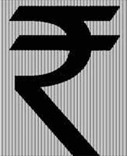 "Kumar's symbol (seen above) is formed by the merger of the Devanagari 'Ra' and the Roman capital 'R' without the stem. An amalgam of the Devanagari 'Ra' and the Roman capital 'R' without the stem…. [it] is based on the Tricolour and ""arithmetic equivalence"". While the white space between the two horizontal lines gives the impression of the national flag with the Ashok Chakra, the two bold parallel lines stand for 'equals to', representing balance in the economy, both within and with other economies of the world. via sify.com via ft.com Can't wait to see what key this symbol grabs on the keyboard."