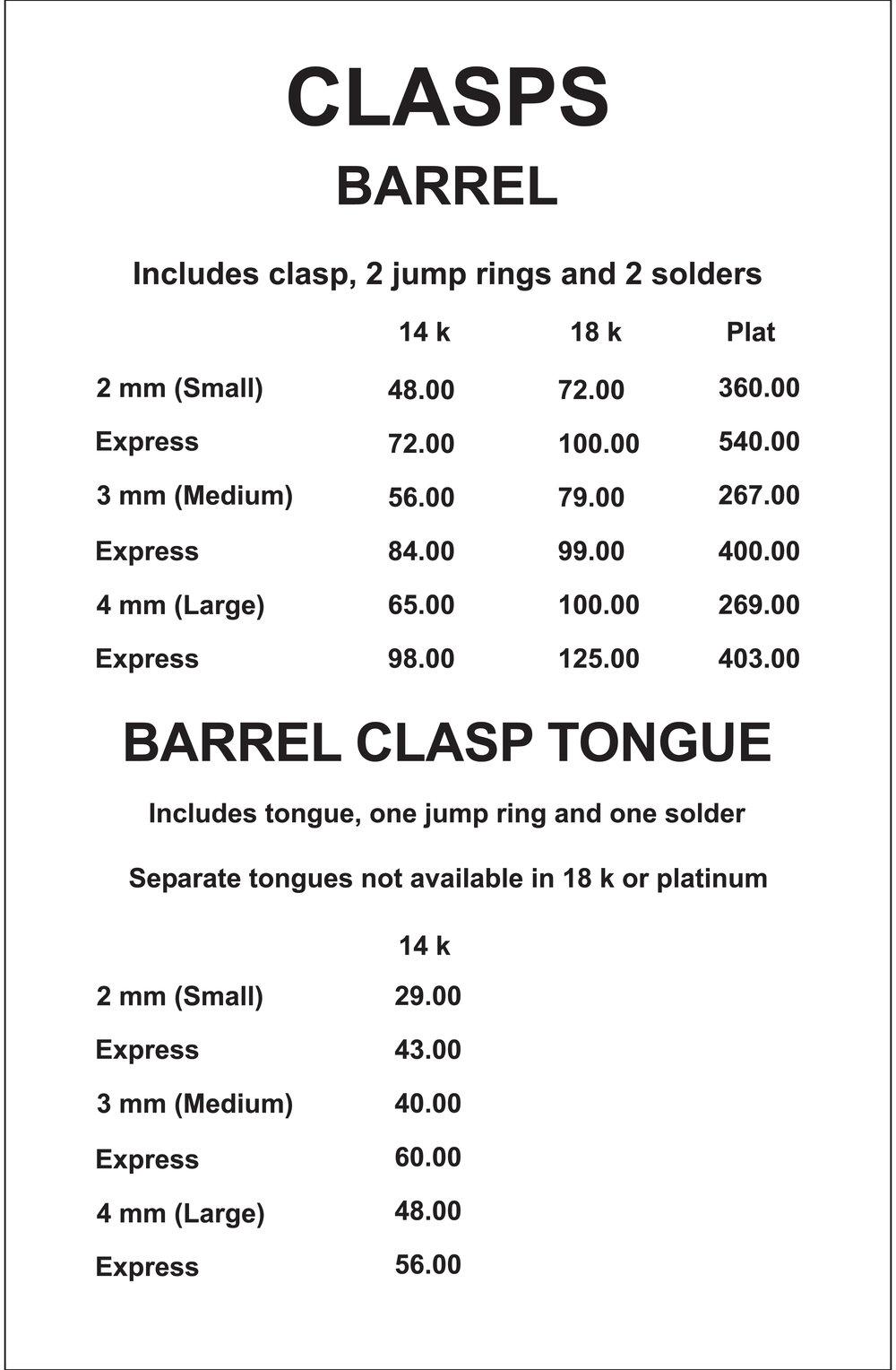Barrel Clasp