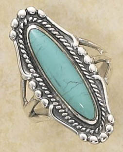 Silver Ring With Cabochon Stone