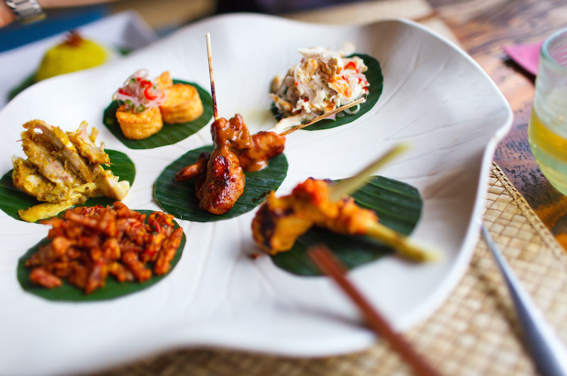 Variety of traditional Bali appetizers