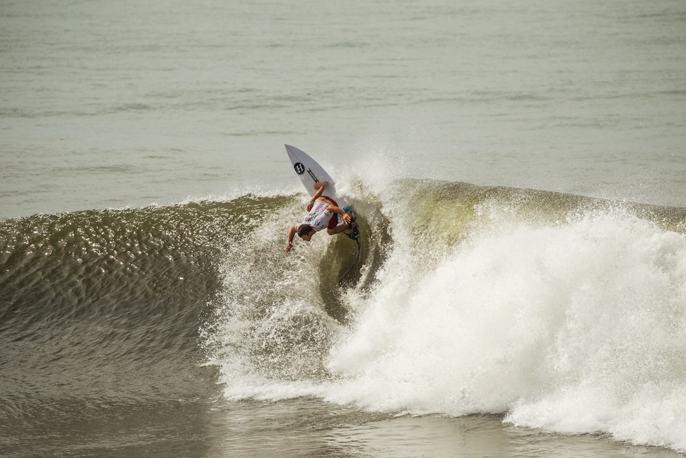 Nick Vasicek is a member of the Mad Huey family and will have no complaints about his 3 place finish especially with surfing like pictured here.PhotoHampositive