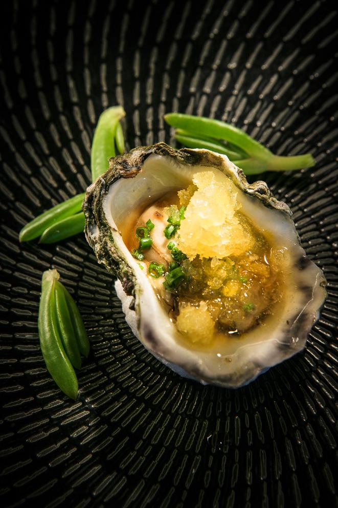 Kerang - Sydney rock oyster, calamansi lime, soy, ginger
