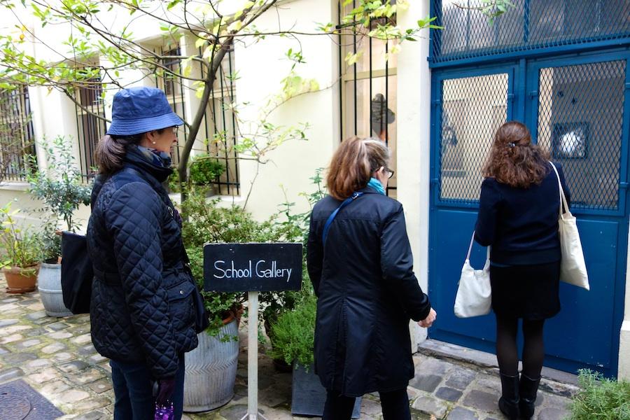 Galleries hidden in courtyards