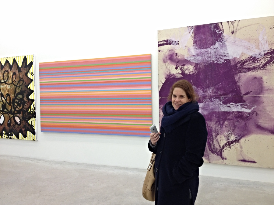 Martha in front of a Schnabel