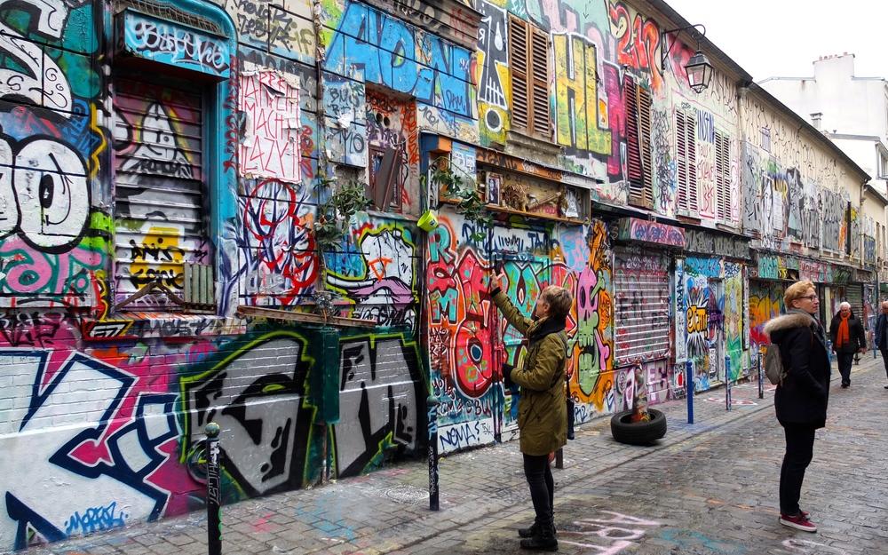 Grafittis rue Desnoyez