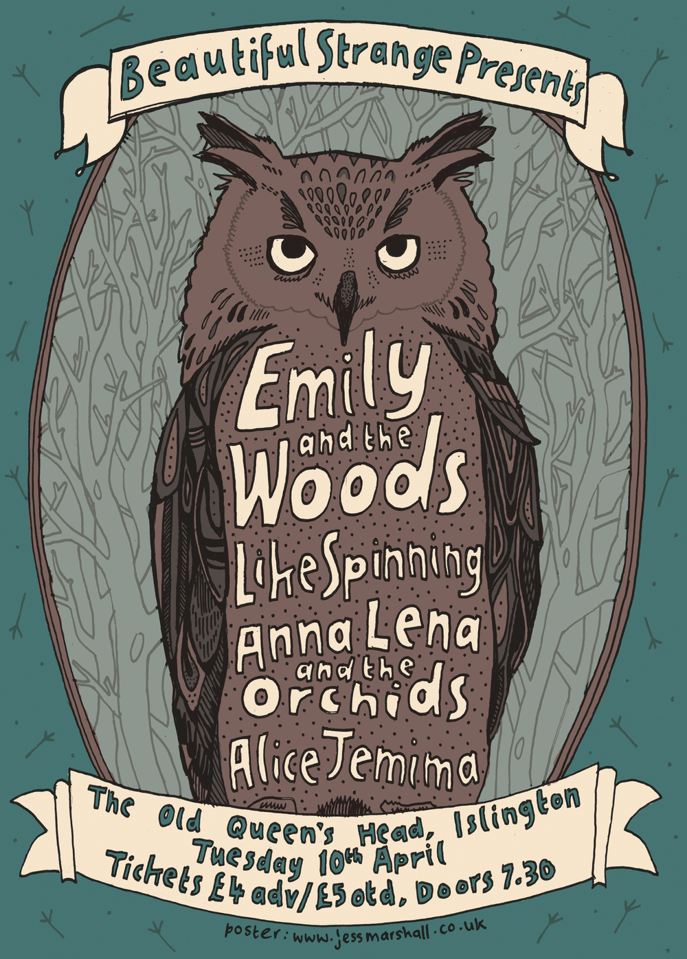 Emily and the Woods + Like Spinning + Anna Lena & The Orchids + Alice Jemima
