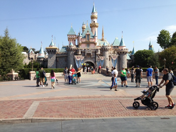 Sleeping Beauty Castle at Disneyland.  Crowded?  Hardly.