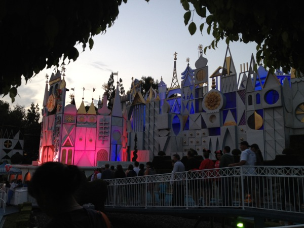 It's a Small World at sunset.