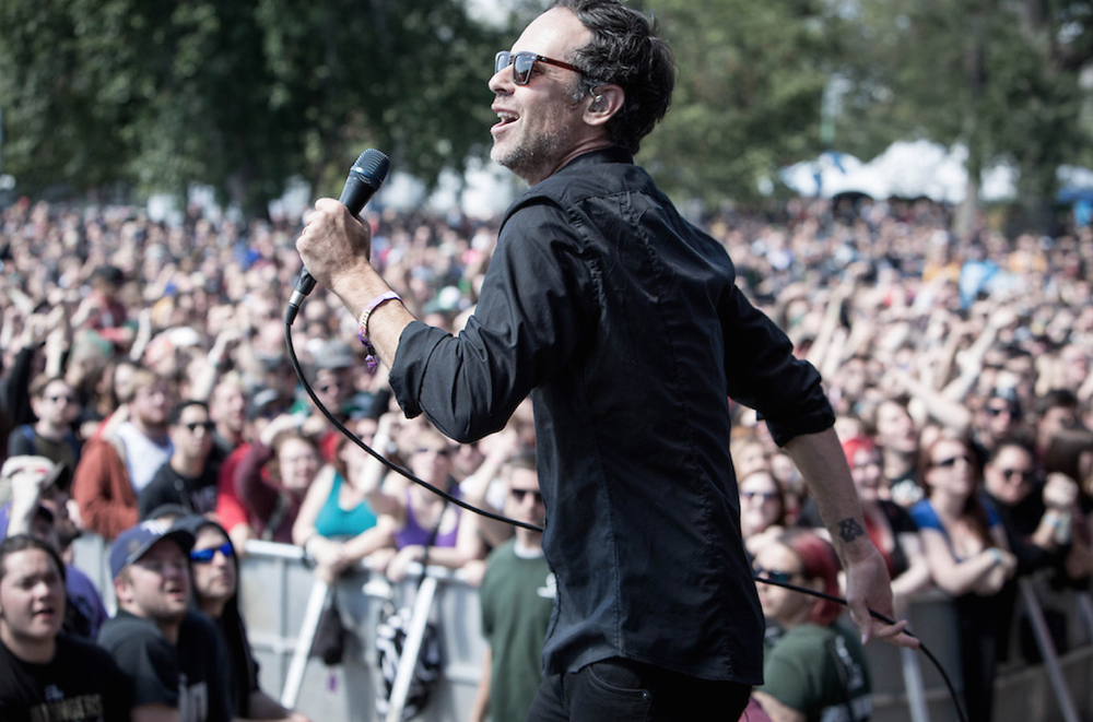 Greg Attonito performing at Riot Fest.  Photo credit: DT Kindler