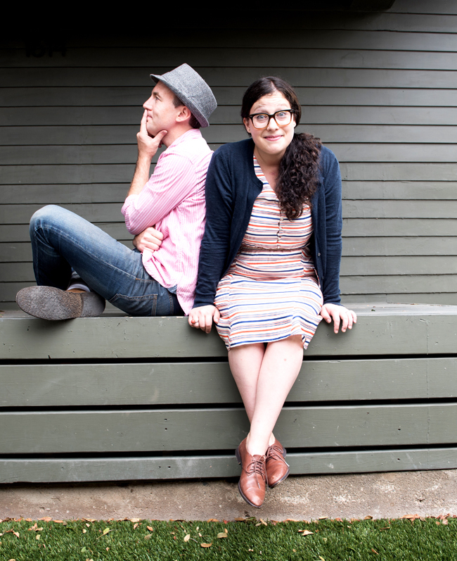 Andrew Barkan and Polly Hall, sitting