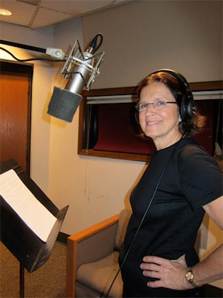 Bonnie Ward Simon in the recording studio
