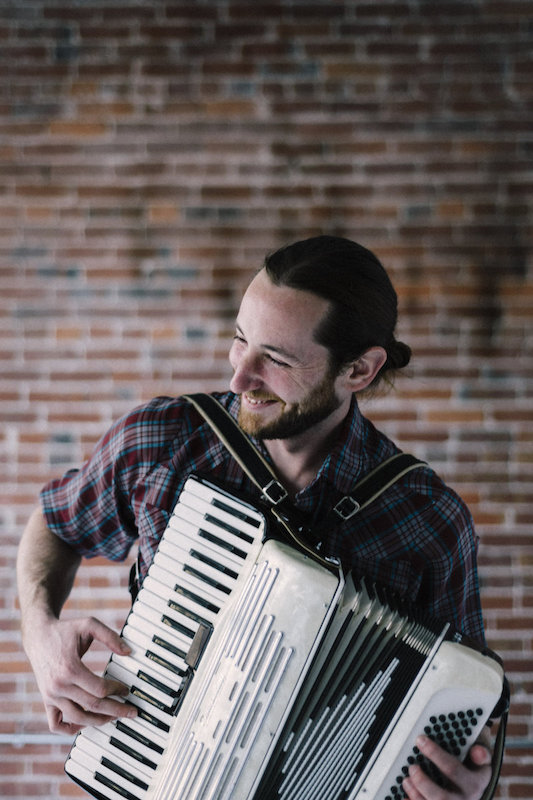 Dan Elliott playing the accordion