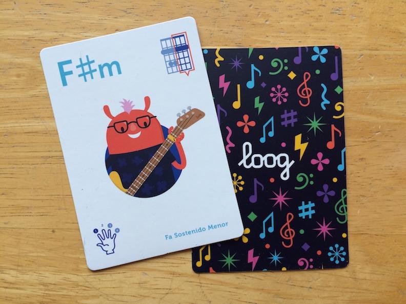 Loog guitar chord cards