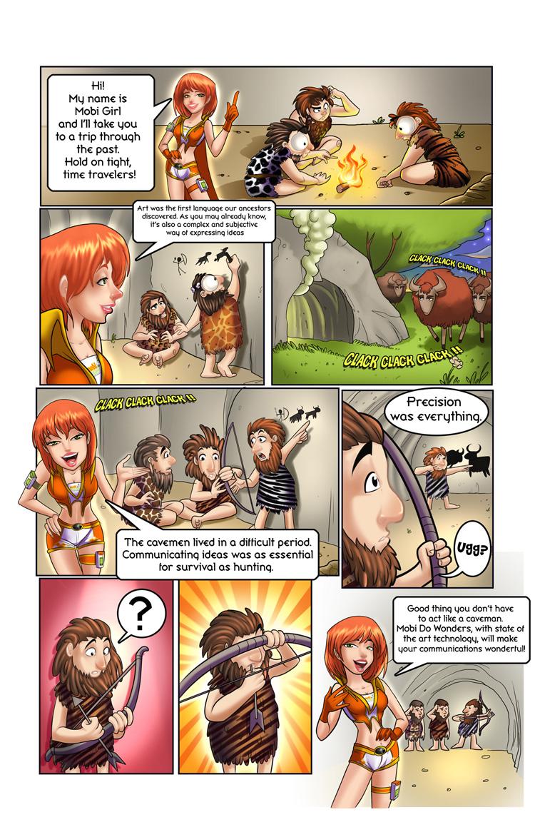 Mobi Girl Comic Page