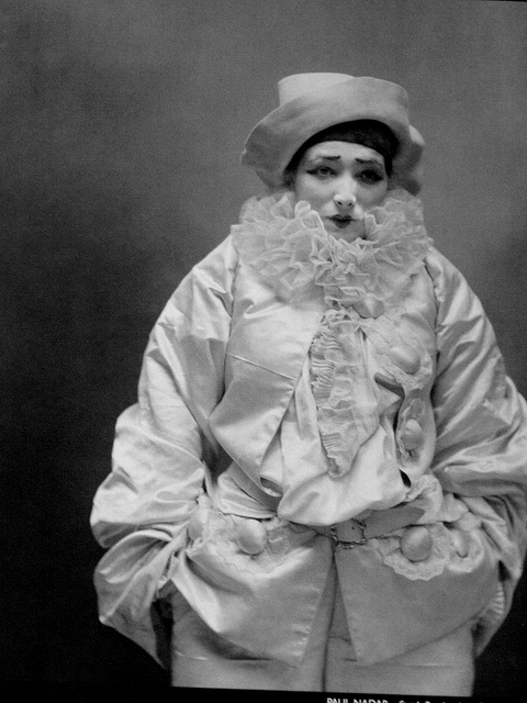 Sarah Bernhardt as Pierrot by Fe´lix Nadar.  1883