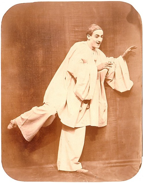 Portrait of Jean Charles Deburau (1829-73) as  Pierrot , c.1850 Felix Nadar photographer