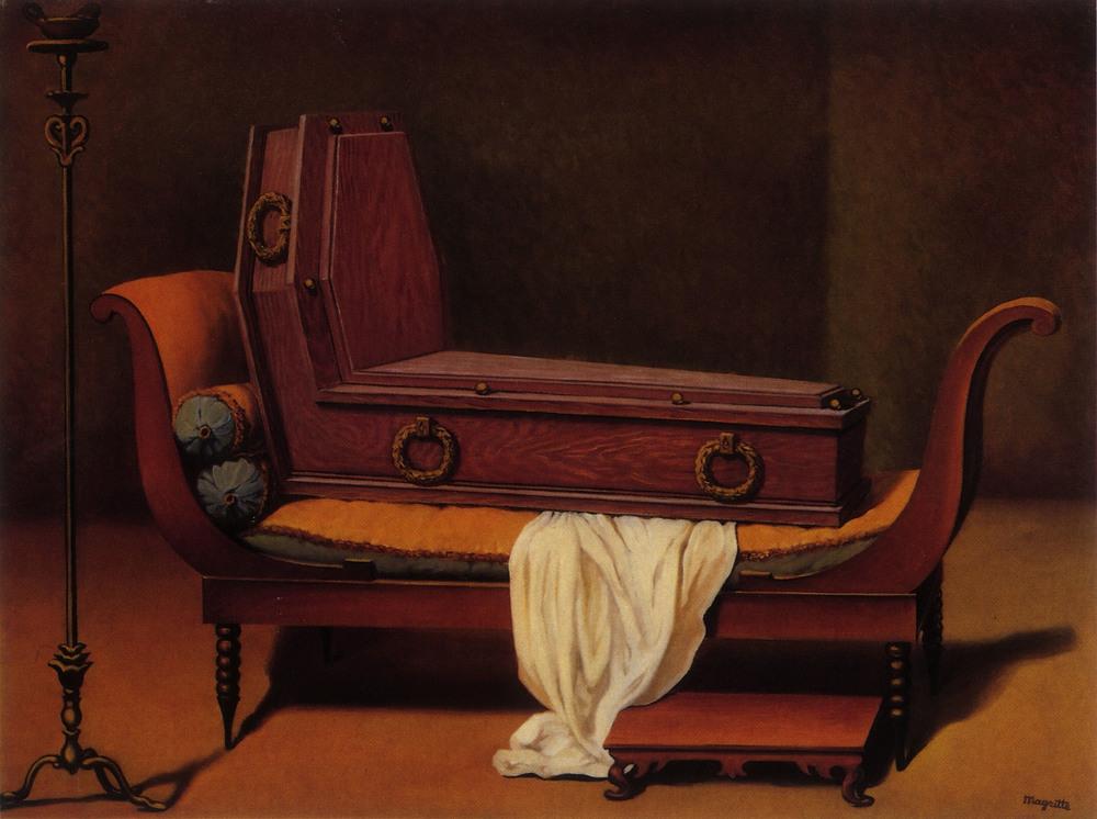 Mme Recamier de David, Rene Magritte, 1951