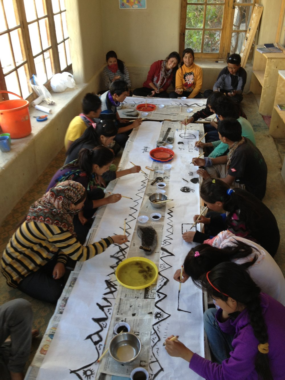 Sustainable ink painting, Secmol School