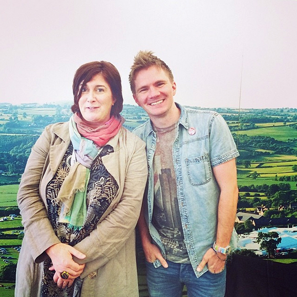 Me and Mary Byrne, the festival coordinator.