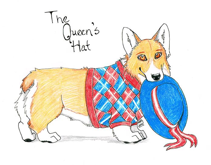 corgi the queens hat