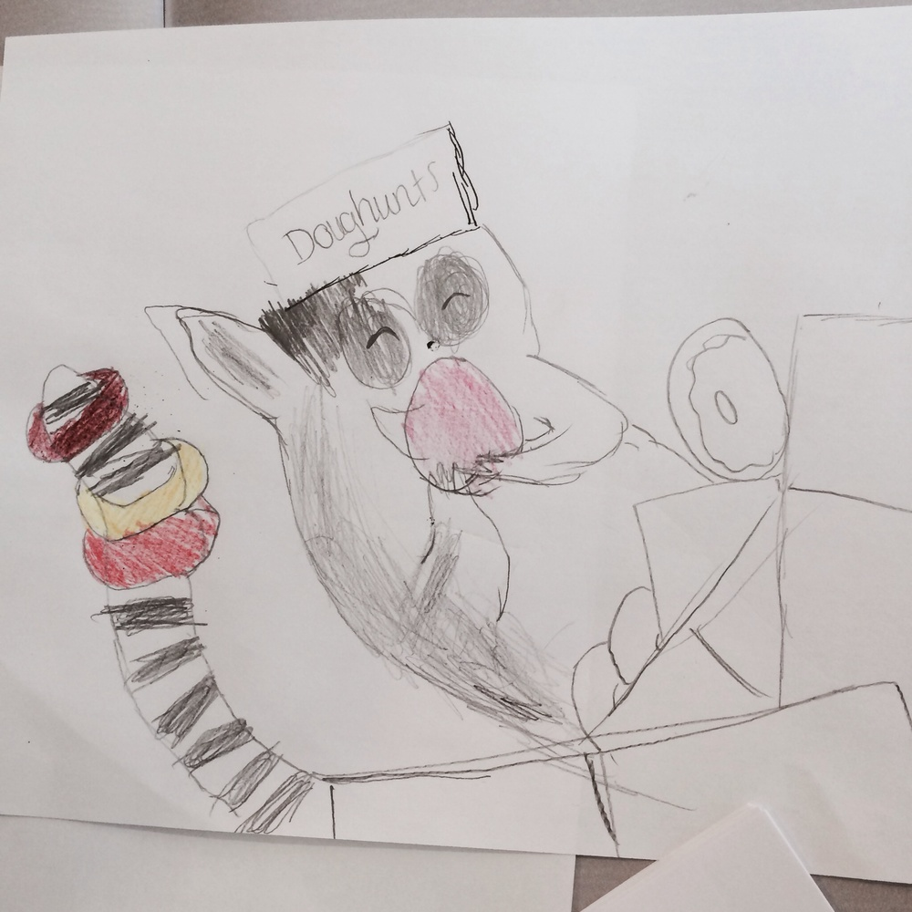 The lemur from 'Please Mr Panda' by Elliot, age 9. Fantastic!