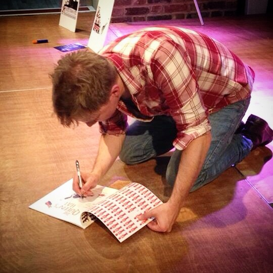 Signing on the floor, as you do.
