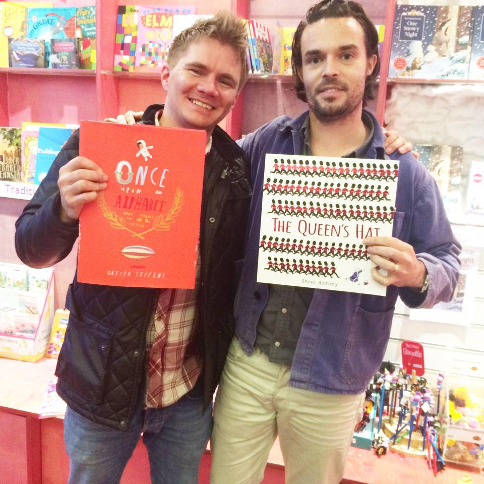 I met Oliver Jeffers after my event with Save the Children and Discover Centre at Westfield Shopping Centre.