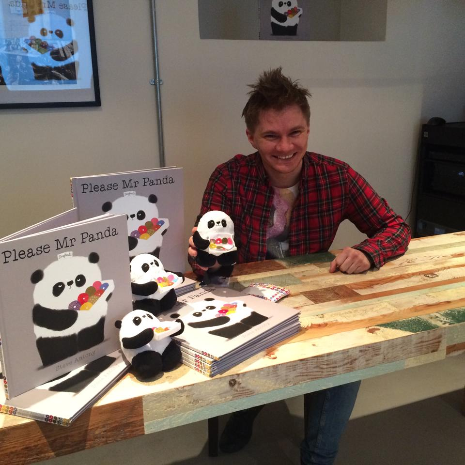 Me at the Mr Panda launch hosted by Hodder Children's.