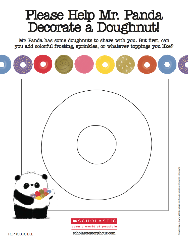 Colouring-in  - Decorate your doughnut!
