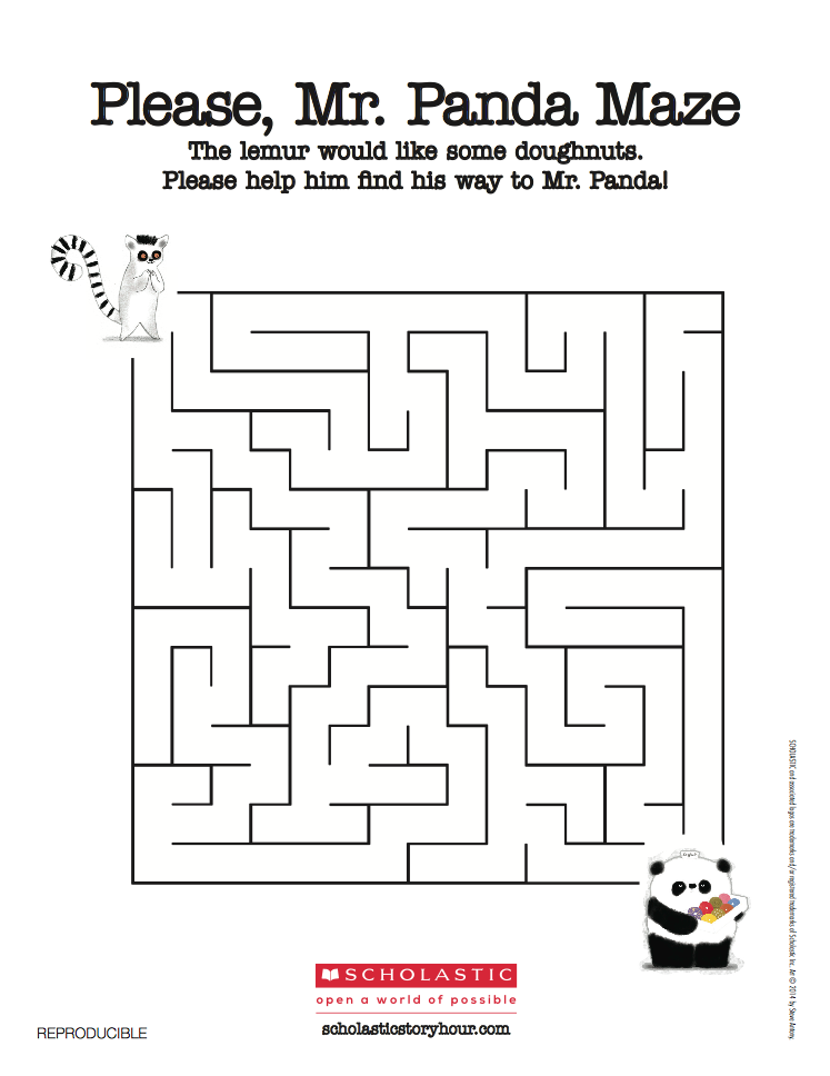 Maze  - Help lemur find the doughnuts!