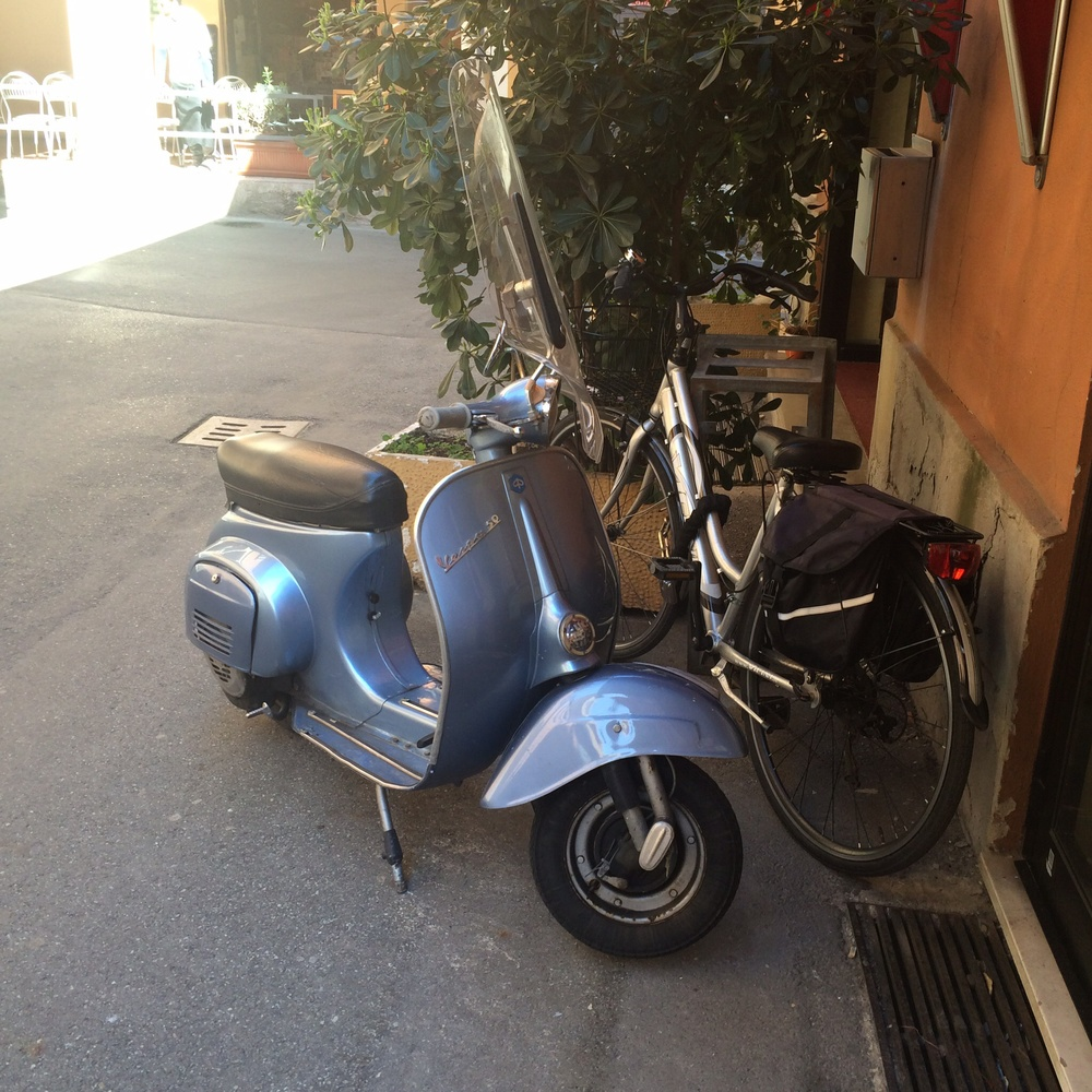 A Vespa outside my hotel.