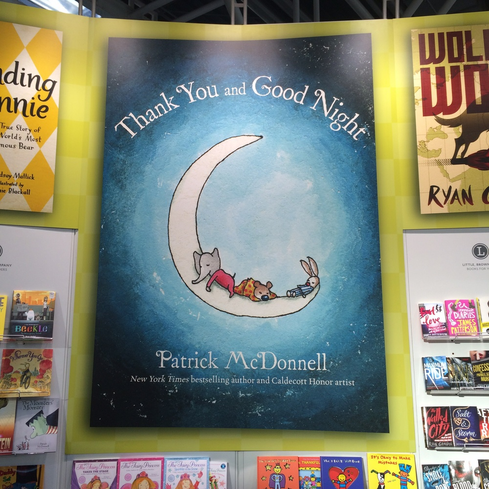 Patrick McDonnell's new book at the Hachette stand.