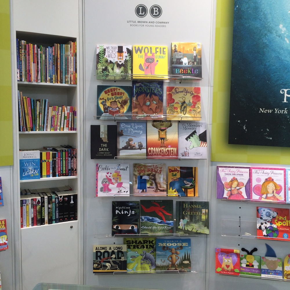 Little Brown's section of the Hachette stand.