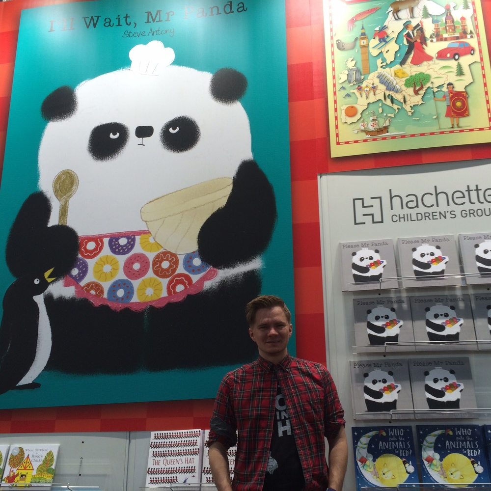 The big poster for 'I'll Wait, Mr Panda'.