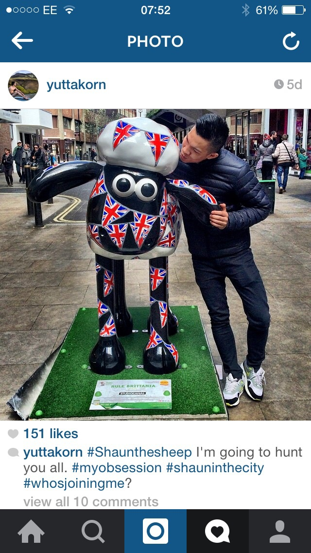 To date, Instagram has just over 4000 posts tagged with ShaunInTheCity. Photo by yuttakorn