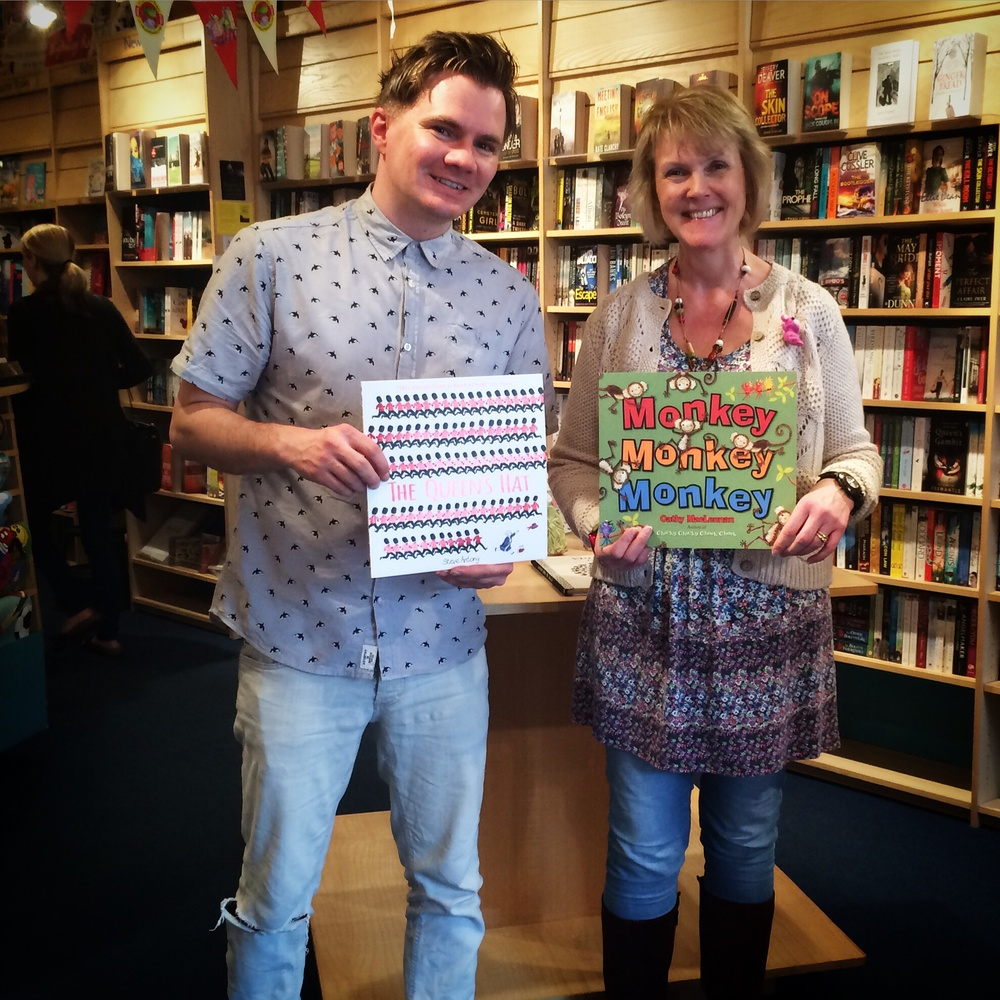With the lovely  Cathy   MacLennan  at  Chapter One Bookshop  in Woodley.