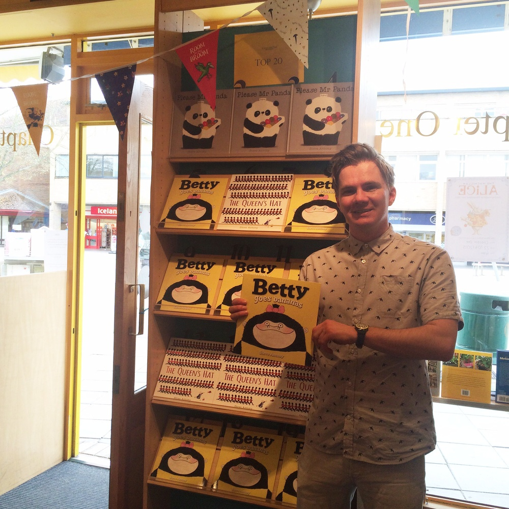Last Thursday, in  Chapter One Bookshop  in Woodley.