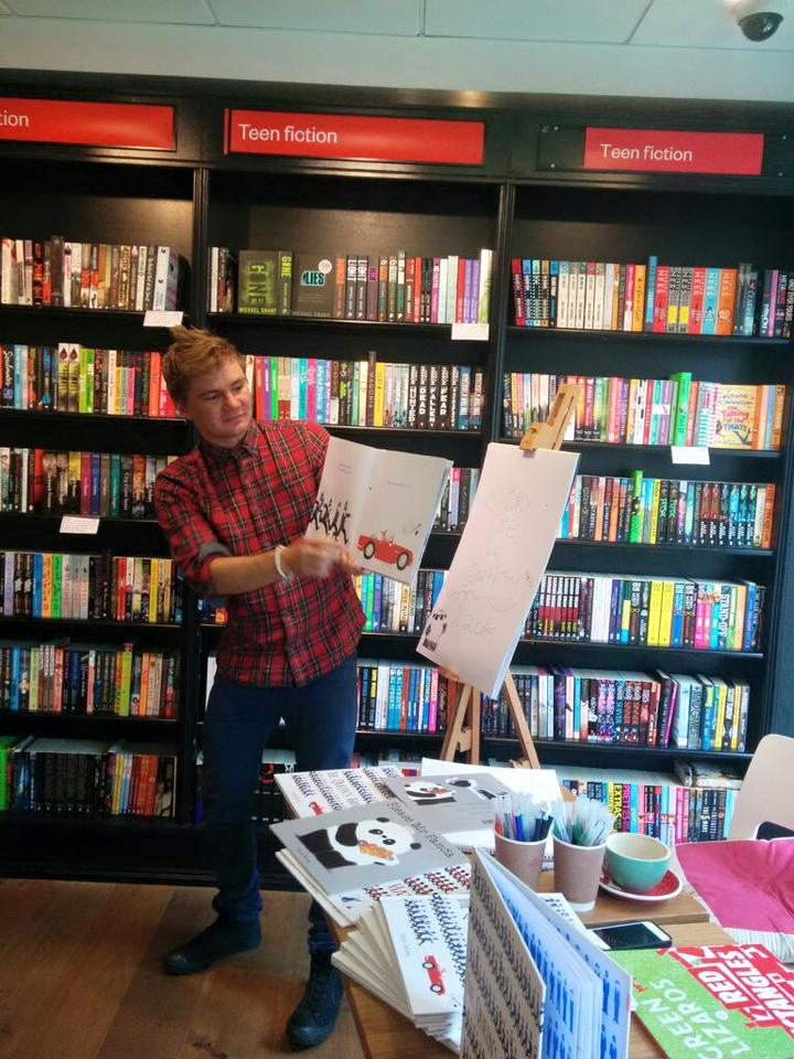 Reading at Waterstones in Richmond