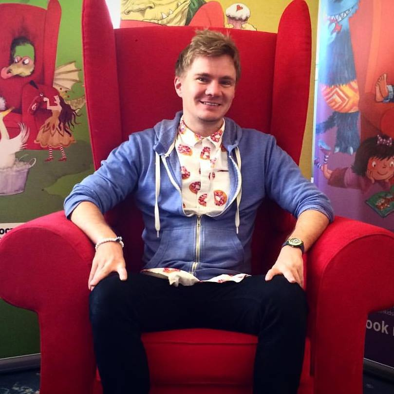 Bath Festival. I'm in the famous red chair!