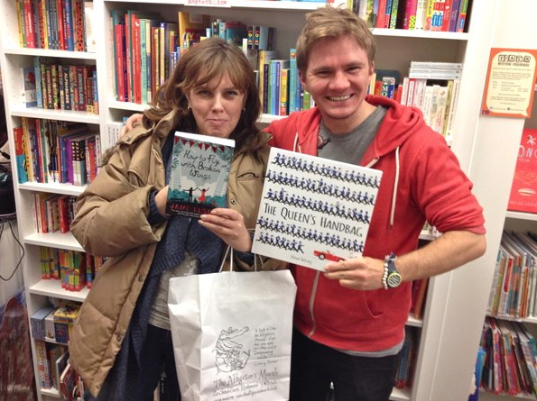 Me, Jane, our books and the Alligator on the bag.