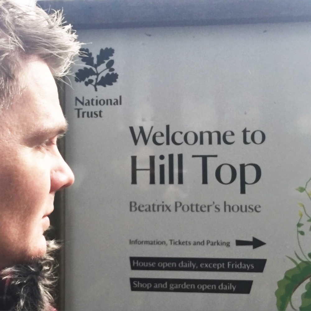 For the National Trust event, I stayed next door to Beatrix Potter's house.