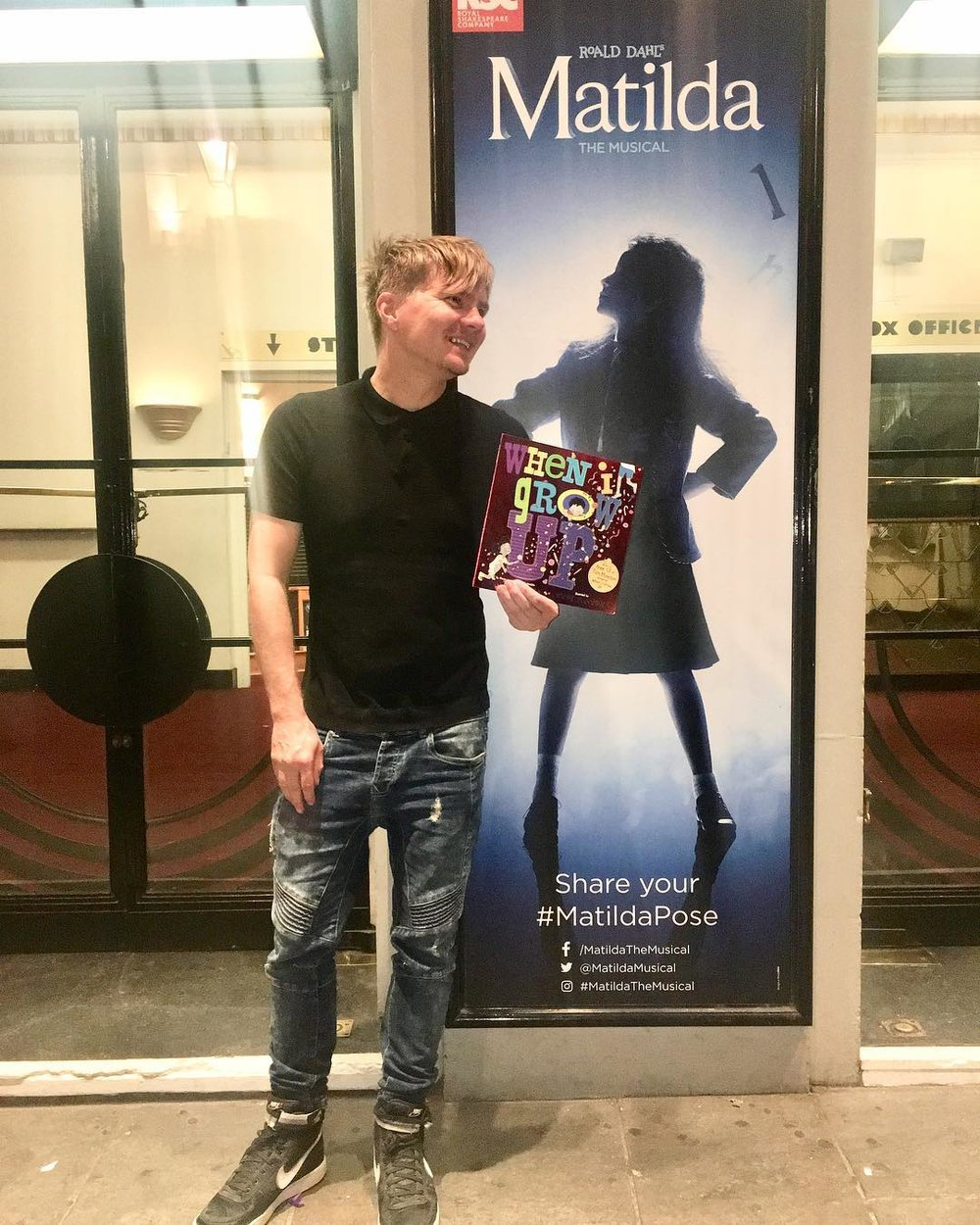 My publisher treated me to Matilda the Musical in the West End. Not really an event, but for me it was a momentous experience.