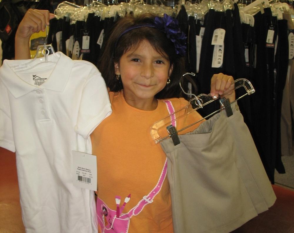 Shopping for school uniforms