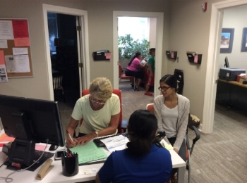 volunteers work in 4 hour shifts, monday through friday interviewing clients needing emergency help.