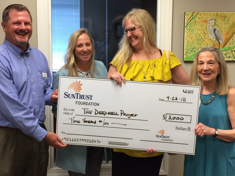 Sun trust foundation donation in honor of retiring director betsy doughtie